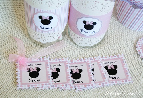 Tarjetas detelles Kit imprimible minnie Mouse Merbo Events
