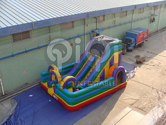 Obstacle course inflatable playground combo-02