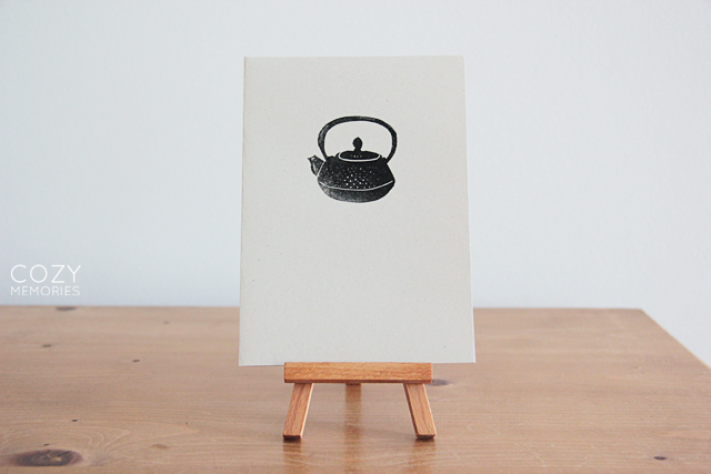Japanese teapot (recycled paper) card