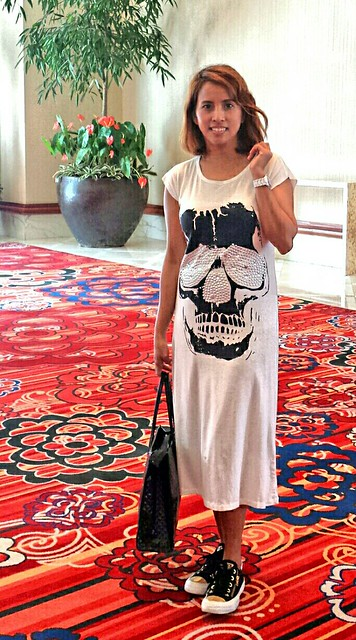 white skull summer dress