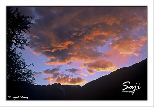 pakistan sunset sky mountain nature landscape chitral kpk