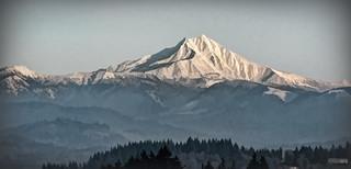 Mt Jefferson in Winter