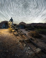 One Wish ••••••••••••••••••••••••••••••••••••••••••••••••• Location: Joshua Tree National Park, CA ••••••••••••••••••••••••••••••••••••••••••••••••• From day to night in JT, here is a startrail I did taking a foreground shot at dusk and combining it with