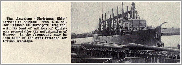 1914 AMERICAN CHRISTMAS SHIP WWI, US COLLIER