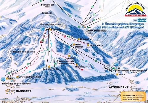 Altenmarkt Radstadt - mapa sjezdovek