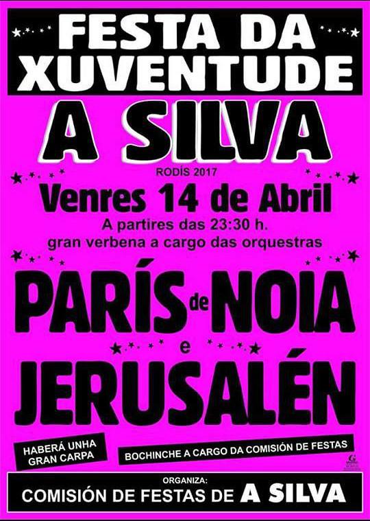 Rodís 2017 - Festa da Xuventude de A Silva - cartel