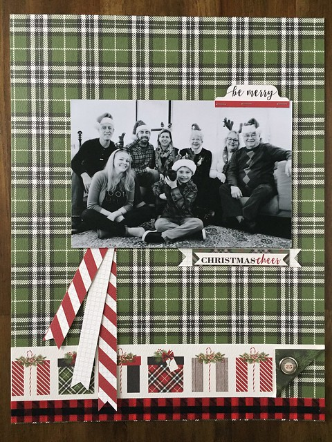 Christmas layout, single photo, carta bella