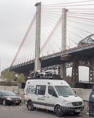 Spectrum News NY1 Satellite Truck at Opening Ceremony for New Kosciuszko Bridge, New York City