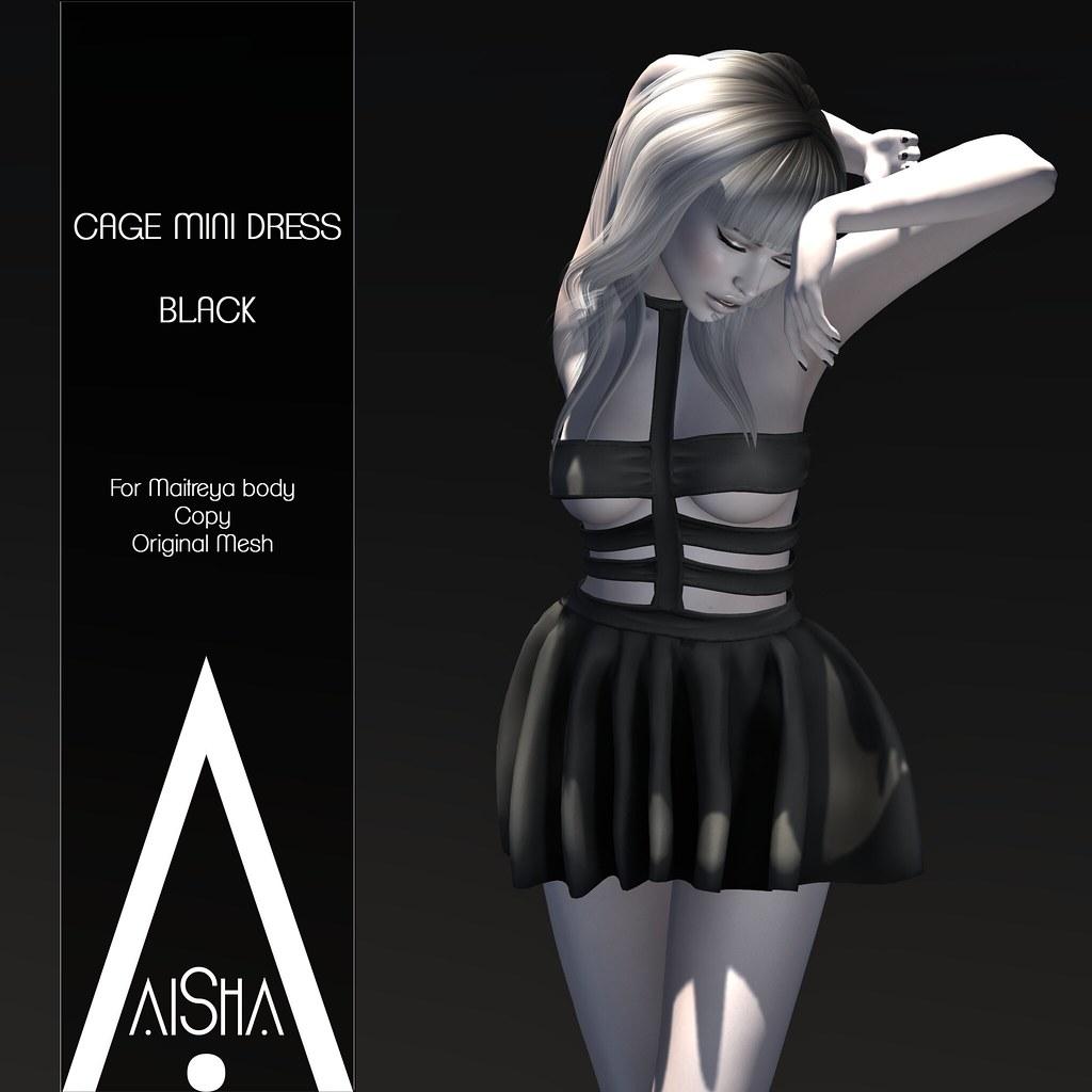 .AiShA. Cage MIni Dress @ The Dark Style Fair - SecondLifeHub.com