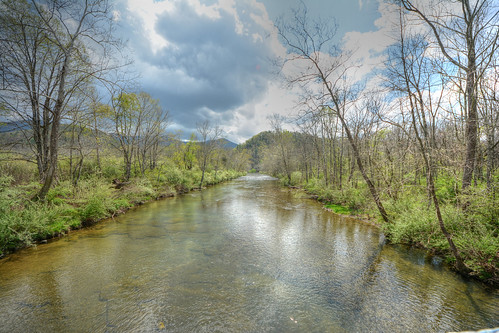 trout fishing blueridge mountains stream clouds spring nationalforest appalachia
