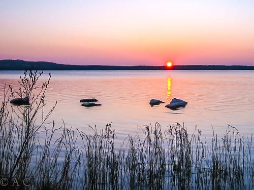 irealnd landscape sunset cullaunlake lake andrea