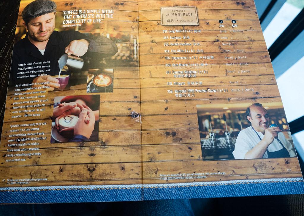 Coffee menu at Take Eat Easy Modern Bakery & Cafe @ Bandar Menjalara, Kepong