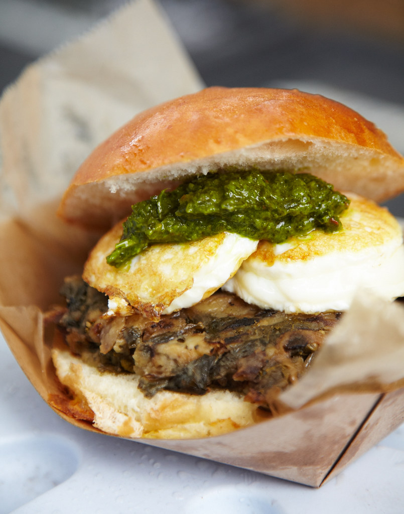 The Egg Begley Jr - Egg Sandwich with kale and pesto yumminess
