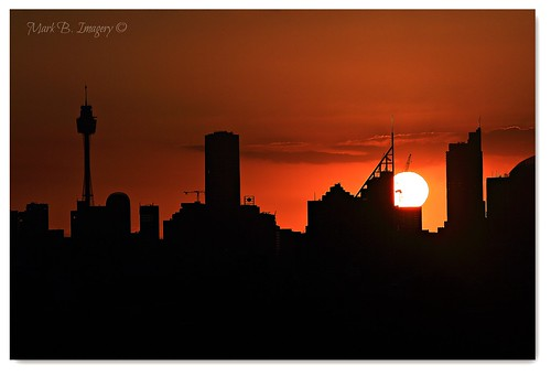 sunset silhouette contrast canon geotagged photography twilight flickr sydney australia cbd silhouettephotography markbimagery crypuscule