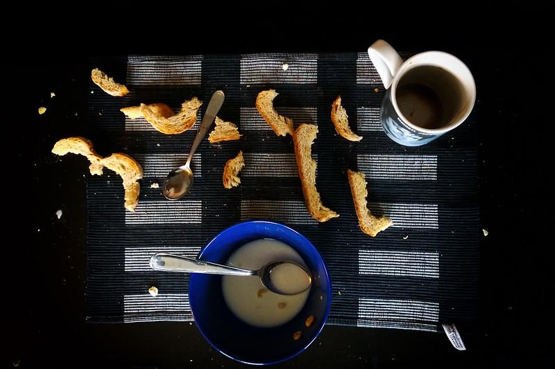 Strange breakfast waste patterns