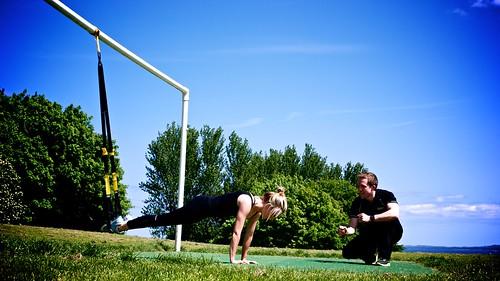 Tim Jordan • Personal Trainer Edinburgh • Outdoor Training • TRX • Plank