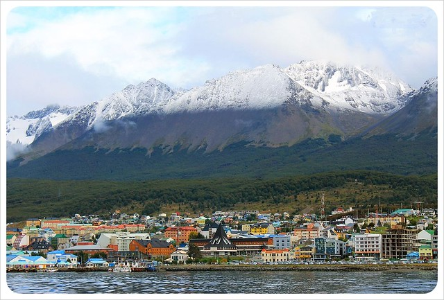 ushuaia from the water