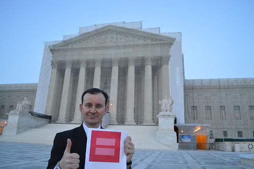 Ryan Janek Wolowski, calling for Marriage Equality at The Supreme Court of the United States in Washington, D.C. by RYANISLAND