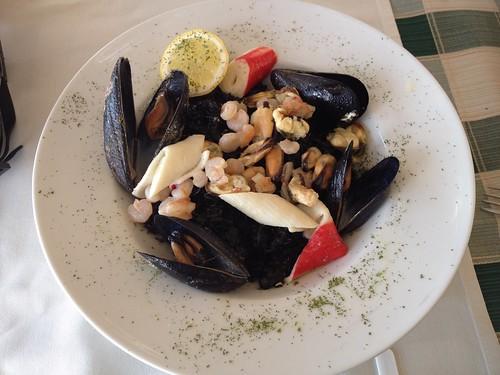 Seafood risotto at Restaurant Libertas, Makarska