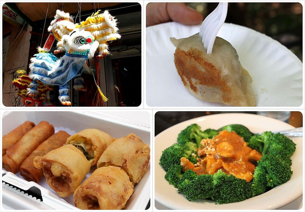 Chinatown and food samples