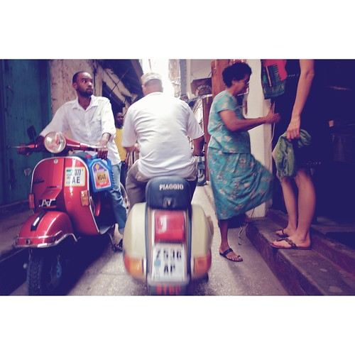 Vespa traffic by kusalperera