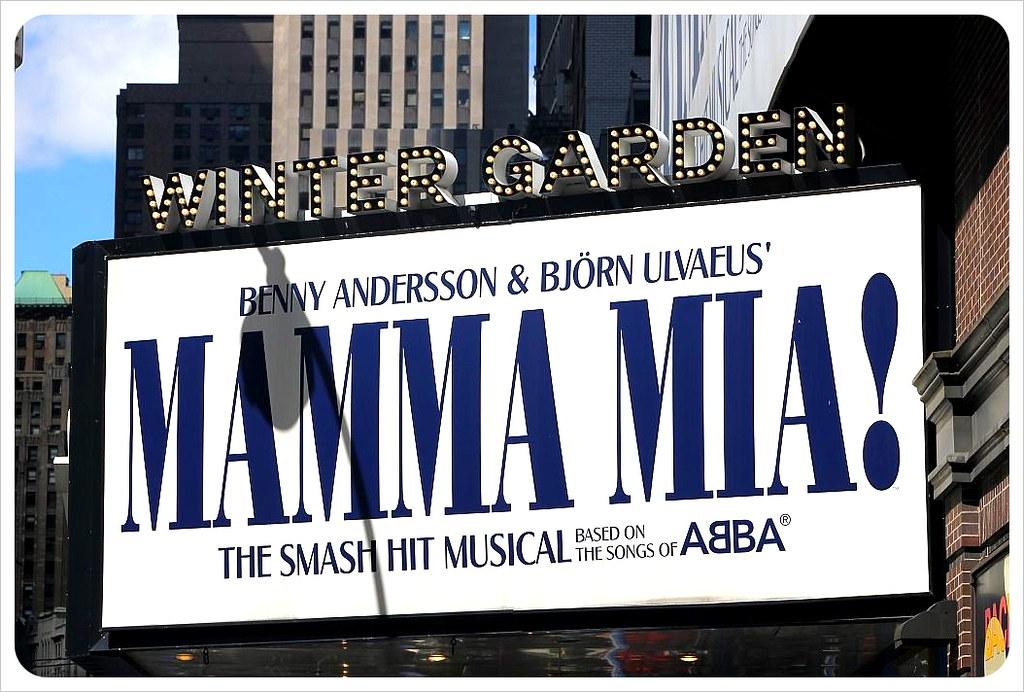 new york broadway mamma mia theater