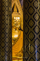 National museum Buddha Phitsanulok Thailand.