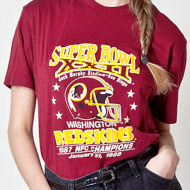 game day style, vintage redskins t-shirt, my fair vanity
