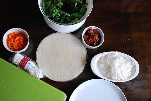 Spring rolls ingredients