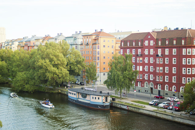 colourful houses in Stockholm