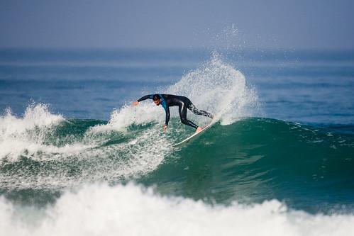Surfeur à Lège