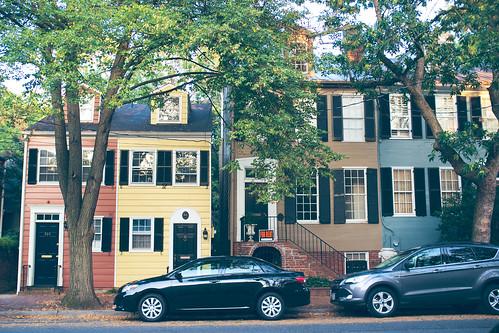 Row houses.