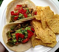 tostada, carnitas, flatbread, taco, tortilla, tortilla chip, food, dish, guacamole, cuisine, fajita,