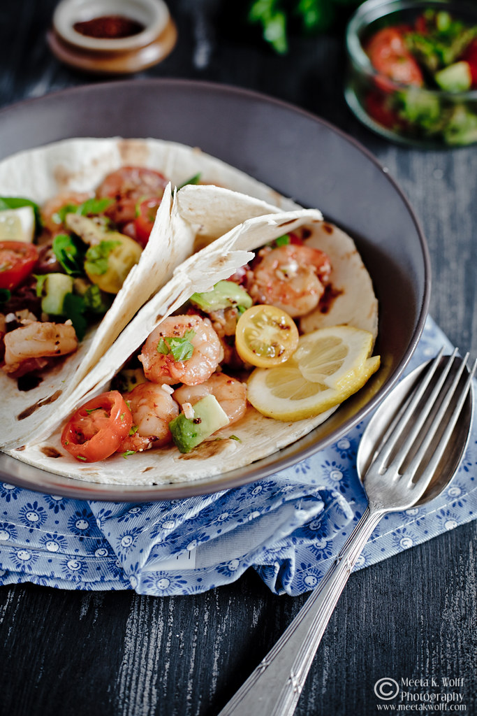 Prawn Ginger Garlic Tacos (0038) by Meeta K. Wolff