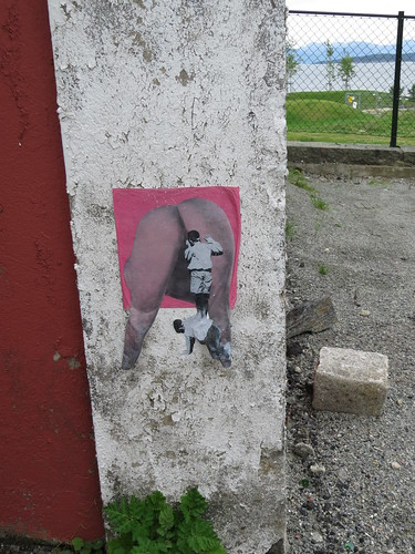 Paste-up art at Tou Scene