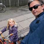 The Lulu and I. Heading home from school. #thelulu #copenhagen