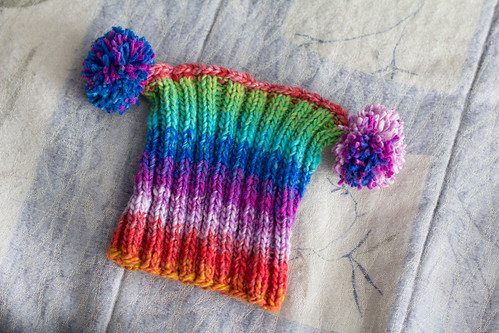 Rainbow Double Pom Hat