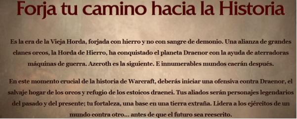Historia para Warlords of Draenor