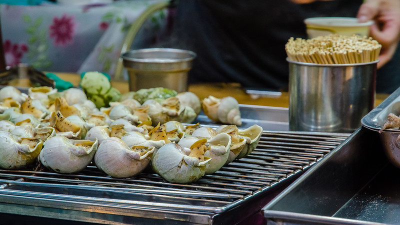 Grilled sea snails at Jiufen (九份)