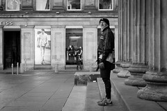 © Leanne Boulton, All Rights Reserved  Street candid taken in Glasgow, Scotland. Obviously I was drawn by all of the uprights in the frame so decided to break all of the rules and shoot in landscape....