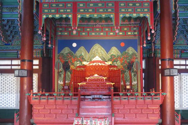 勤政殿裡的皇帝座位
