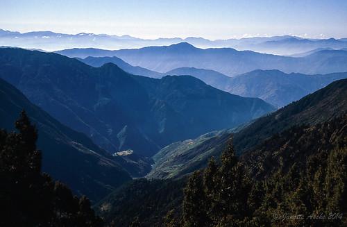 travel nepal mountains film trekking 35mm asia hiking 1988 slide fujifilm ridges scannedslide langtang helambu layersofhills