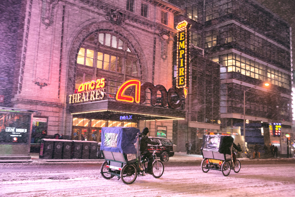 New York City - Snow - Hercules - Times Square Pedicabs