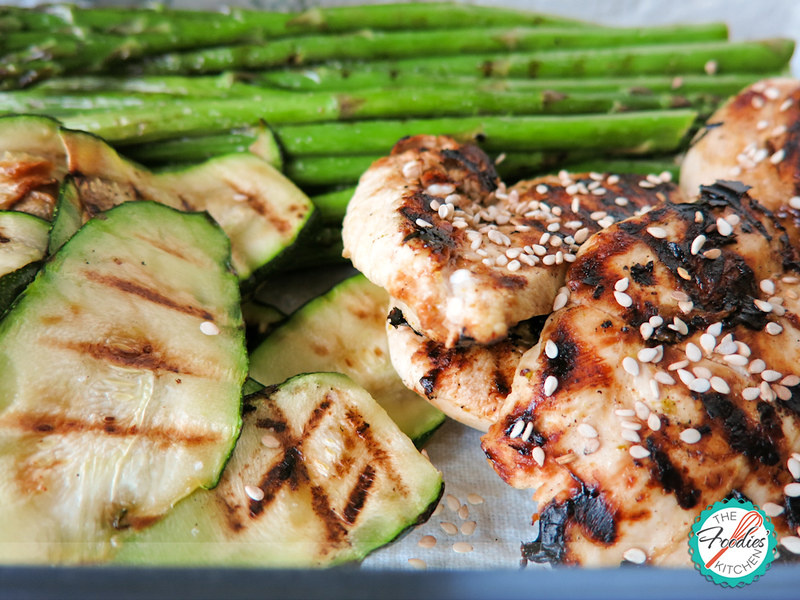 Grilled Tangerine Chicken with Greens