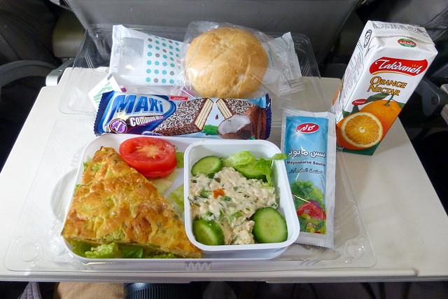 Inflight meal in Mahan Air