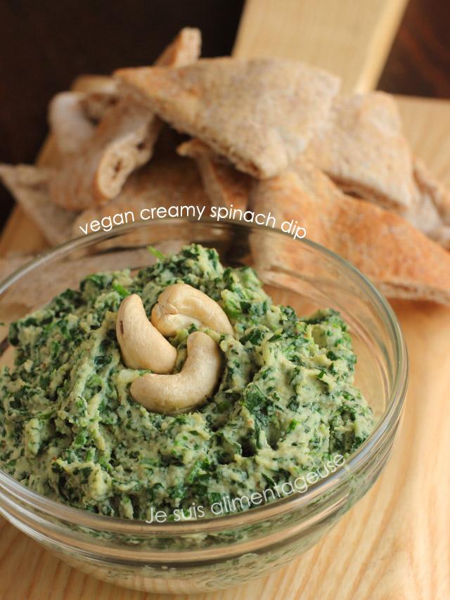 Vegan Creamy Spinach Dip