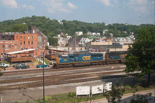 railroad train maryland locomotive coal freight cumberland csx emd sd70mac sd70ac keystonesubdivision
