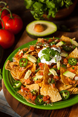 Homemade Unhealthy Nachos with Cheese and Vegetabl…