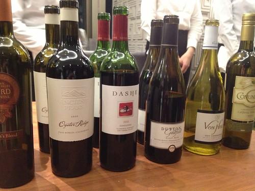 試飲会でいただいたワインたち@TAP&BOXオープニングパーティー