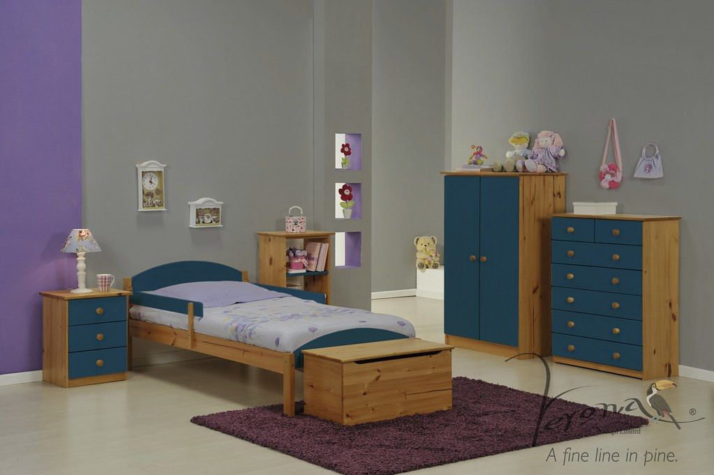 Maximus Bed Frame Antique & Blue - BDFRMAXN3000ABL RS